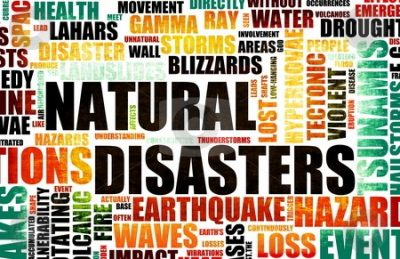 natural disasters word cluster